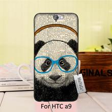 On Sale Luxury Cool phone Accessories Case For case HTC One A9  Panda headphones Geekery Panda