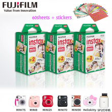 Original Fujifilm instax mini 8 film for 7S 25 8 50s 90 polaroid Share SP-1 instant camera mini fuji film white frame