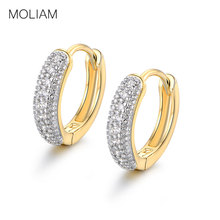 MOLIAM Earrings Hoops Jewelry for Women AAA Cubic Zirconia Small Earring with Charming Stone MLE114(China)