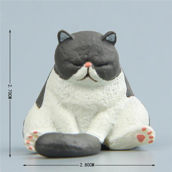 Cute Lazy Sitting Pets Animals Bear Cat Dog Hedgehog Lifelike pvc toys fridge magnets - 8