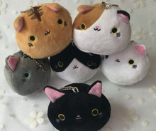 Super HOT , Gift Plush CAT Toy Stuffed Toy 6Colors - Plush Doll , Stuffed Animal Cat plush toy doll , keychain pendant toy(China)
