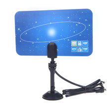 HOT sale Digital Indoor TV Antenna HDTV DTV HD VHF UHF Flat Design High Gain TV Antenna Receiver EU US Plug(China)