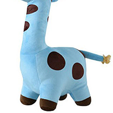 ABWE 1 x 25cm blue soft Plush Giraffe Animal Shaped Finger dolls for Children gift Toy Story Telling