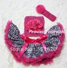 Hot Pink Zebra Baby Pettiskirt, Hot Pink Peony Hot Pink Crochet Tube Top, Hot Pink Rose Headband 3PC Set MACT126