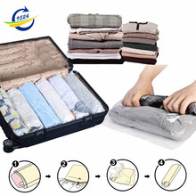 Space Saver Travel Storage Bags Compressible Roll-up No Vacuum Needed 4-size Bundle (S,M,L,XL)(China)