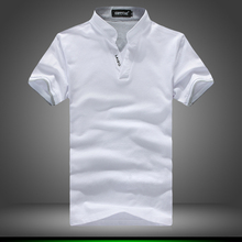 2017 New Polo Shirts Men Fashion Design Short Sleeve Shirt Male Cotton Breathable Slim Fit Mens Tee Shirt Plus Size 4XL 5XL