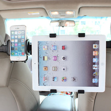 2 In 1 Car Back Seat Headrest Mount Holder For Ipad Mini 1/2/3 AIR Tablet SAMSUNG Tablet PC Stands(China)