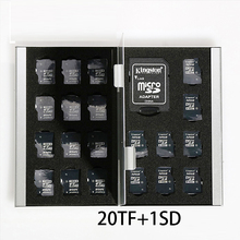2017 Silver Red Blue Gold 21 In 1 Aluminum Storage Box Bag Memory Card Case Holder Wallet Large Capacity For 1* For Sd 20*mirco