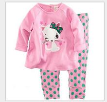 Children Clothing Sets Baby boy's Sweatshirts pajamas suits Girls Clothing Sets sleepwear pants  Dora/kitty/pajamas set overall