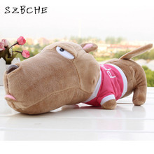 1pcs Creative Papa Dogs plush toy doll Big Head Dog Cool Dog in car lie monkey/donkey funny toy 23cm