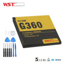 WST Replacement High Quality 2000mAh Battery with 11pcs tool kit For Samsung G360 G3608 G3606 G3609 Mobile Phone Battery(China)