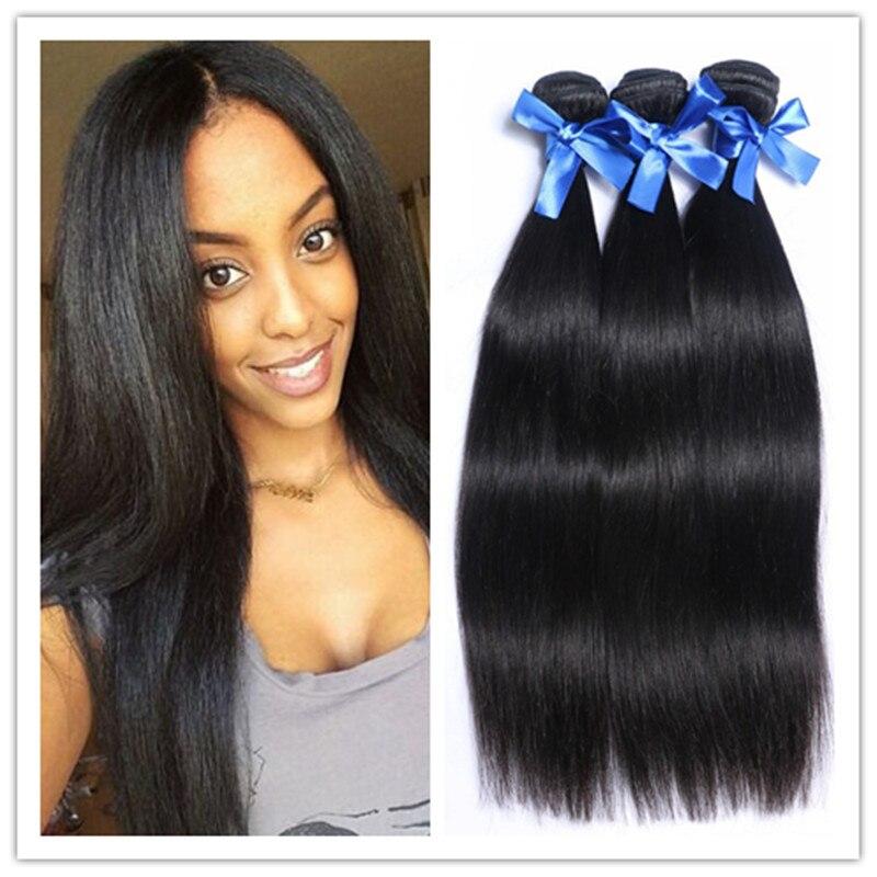 Brazilian Virgin Hair Straight 3 Bundles human hair  8A Grade Unprocessed Human Hair Weave Hair Products<br><br>Aliexpress