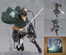 Action figure toys Attack on Titan Mikasa Ackerman action PVC Model toys 14cm(China)