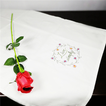 6pcs restaurant white cotton cloth napkins folded cotton jacquard fabric, lint free cloth to wipe the cup 70*45cm(China)