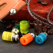 Sailing electronic cigarette Lazuli light glass 510 drip tips stainless core assorted color for 510 atomizer(China)