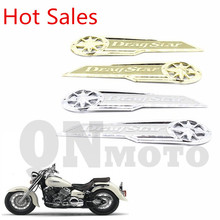 Motorcycle Decals 'DragStar' Gas Tank Emblem Badge Chrome For Vstar XVS XV 400 650  Models   Silver / Gold