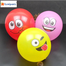 LumiParty 20 PCS/lot Cute Facial Ballons Cartoon Inflatable Birthday Home Decoration Wedding Smile Latex Balloons Party Supplies(China)