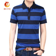 Summer NEW Arrived Short Sleeve Polo Shirts High Quality Cotton Classic Striped Breathable Men Polo Shirt Variety Styles Size2XL(China)