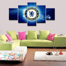 5 Panels Chelsea Football Club Painting Canvas Wall Art Picture Home Decoration Living Room Canvas Printed Modern Painting