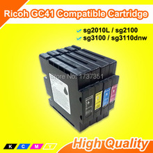 Empty ink tank SG3110 SG 3110DN Printer ink cartridge with disposable chip for Ricoh GC41 gc 41