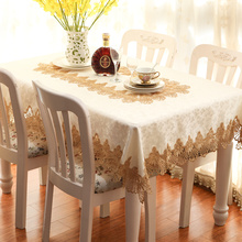 New embroidery gold lace Tablecloth table cloth dinner desk mat round square Garden Europe Mat table cover wholesale FG705