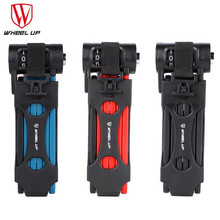 WHEEL UP Anti-cut Safety MTB Folding Bike Lock Professional Anti-theft Alloy Steel Foldable Bicycle Lock Keys Password