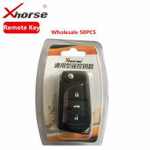 Wholesale 50 PCS XHORSE VVDI2 For Toyota Type Wireless Universal Remote Key 3 Buttons with Best Quality(China)