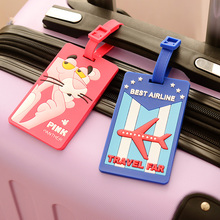 2017 New Rubber Funky Travel Luggage Label Straps Suitcase Name ID Address Tags Luggage Tags Cute Baymax Cat Fashion(China)