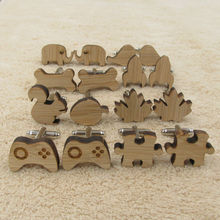 Fashion Stylish Wood Men's Cufflinks Man accessory Wedding Business Gift for Him