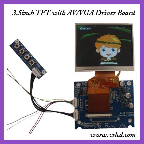 AV+OSD tft driver board VS-D1612-N3 +3.5inch tft  320x240 resolution LQ035NC111<br>