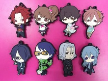 8 Pcs/set Anime Brothers Conflict pvc figure toy Rubber phone strap/Keychain pendant toys for gifts