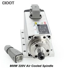 New Arrive 0.8kw Air Cooled Spindle Motor CNC Spindle Motor 800W 220V Square Milling Machine