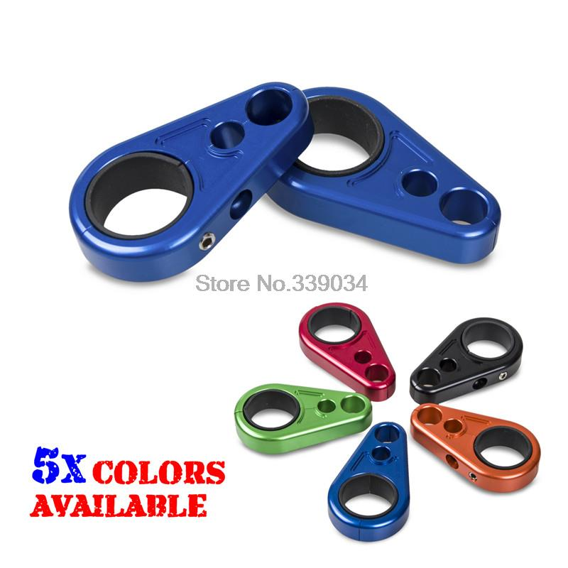 Motorbike CNC Billet ATV A-Arm Brake Line Clamps for Yamaha YFZ450 YFZ450R YFZ450X Blue Color Good Quality<br><br>Aliexpress