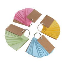 Kraft Paper Notebook Binder Ring Easy Flip Flash Cards Study Memo Pads DIY Stationery(China)