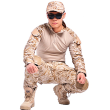 paintball, Camouflage paintball military equipment cs war game clothing tactical military uniform us army combat trousers shirt suit multicam militery uniform(China)