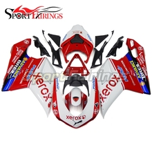 Complete Fairings For DUCATI 1198 1098 1098s 848 2007 2009 2012 Sportbike ABS Motorcycle Fairing Kit Bodywork Xerox White Red(China)
