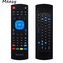 Measy GP811 2.4G Mini Wireless Keyboard Mouse 3D 6-Axis Somatosensory with Infrared Remote Learning for Smart TV,IPTV, PC,HT PC
