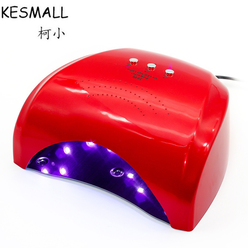KESMALL Professional Nail Dryer LED UV Lamp 36 w Gel Nail Machine Dry Nails, Nail Polish Tool Protection Lamp For Manicure CO393<br>