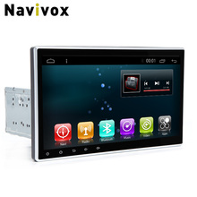 Navivox 10'' 2 din Android 6.0 Car GPS Navigation Stereo Audio Player For 2din Adjust RAM2G+ROM32G Car Radio GPS Navigation(China)