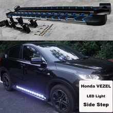 For Honda VEZEL HRV 2014.2015.2016.2017 Car Running Boards Side Step Bar Pedals High Quality Brand New LED Light Style Nerf Bars(China)