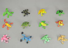 super mini  soft plastic Animal model toy cute little frog figure , 3cm , 12pcs/set