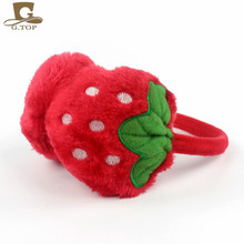 girls Winter Ear Warmers Lovely strawberry fruit Headband Earmuffs