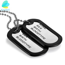Boniskiss Armed Forces Design Double Military Dog Tags Necklace With Silicone Spacer Stainless Steel Pendant Jewelry(China)