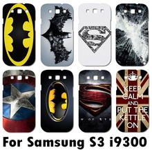TAOYUNXI TPU plastic Cartoon Mobile phone case for Samsung galaxy S3 i9300 Case Superman superman logo batman Phone Cover Shell(China)