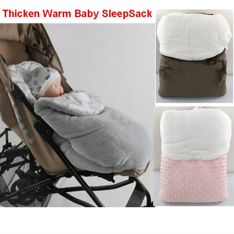 Multifunctional Winter Baby Sleeping Bag Thicken Warm Baby blanket Footmuff baby stroller sleep bag baby safety seat sleepsack<br><br>Aliexpress