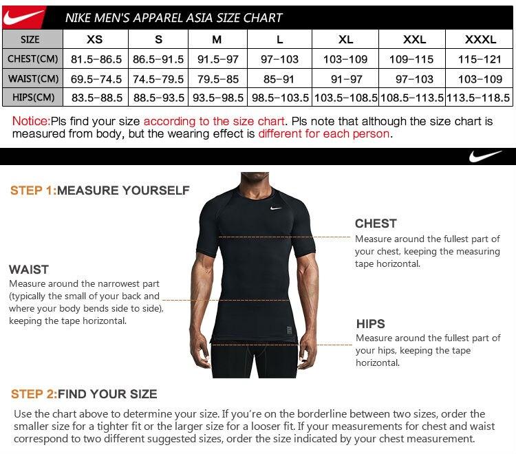 nike shirt measurements