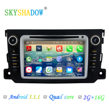 2016 For Benz Smart Fortwo 1024X600 Pure Android 5.1.1 Quad Core 1.6 GHz Wifi 3G Radio Car DVD Player GPS Navigation System(China)