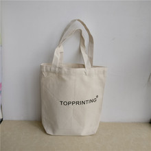 Wholesale 300pcs/lot eco-friendly cotton canvas shopping bags customized company logo cotton fabric bags one shoulder tote bags(China)