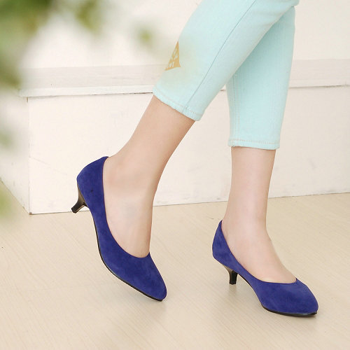LLSL101Big size US10  new fashion high heels women pumps thin heels Nubuck leather low heels shoes for ladies<br><br>Aliexpress