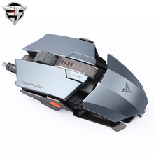 TEAMWOLF Immortal Laser Changeable Gaming mouse 4000dpi backlight wired Metal Programming game USB 7 Buttons RGB Breathing LED(China)